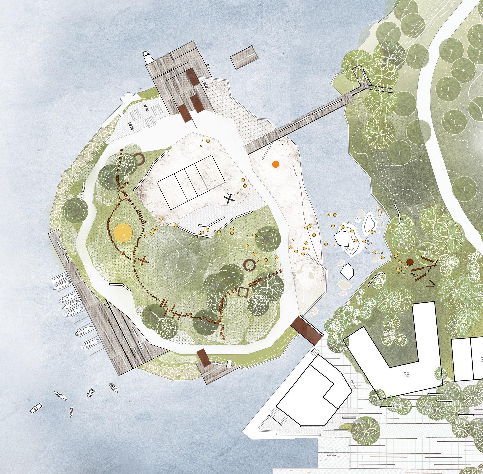 Illustrasjon av Løkholmen, endringer kan forekomme