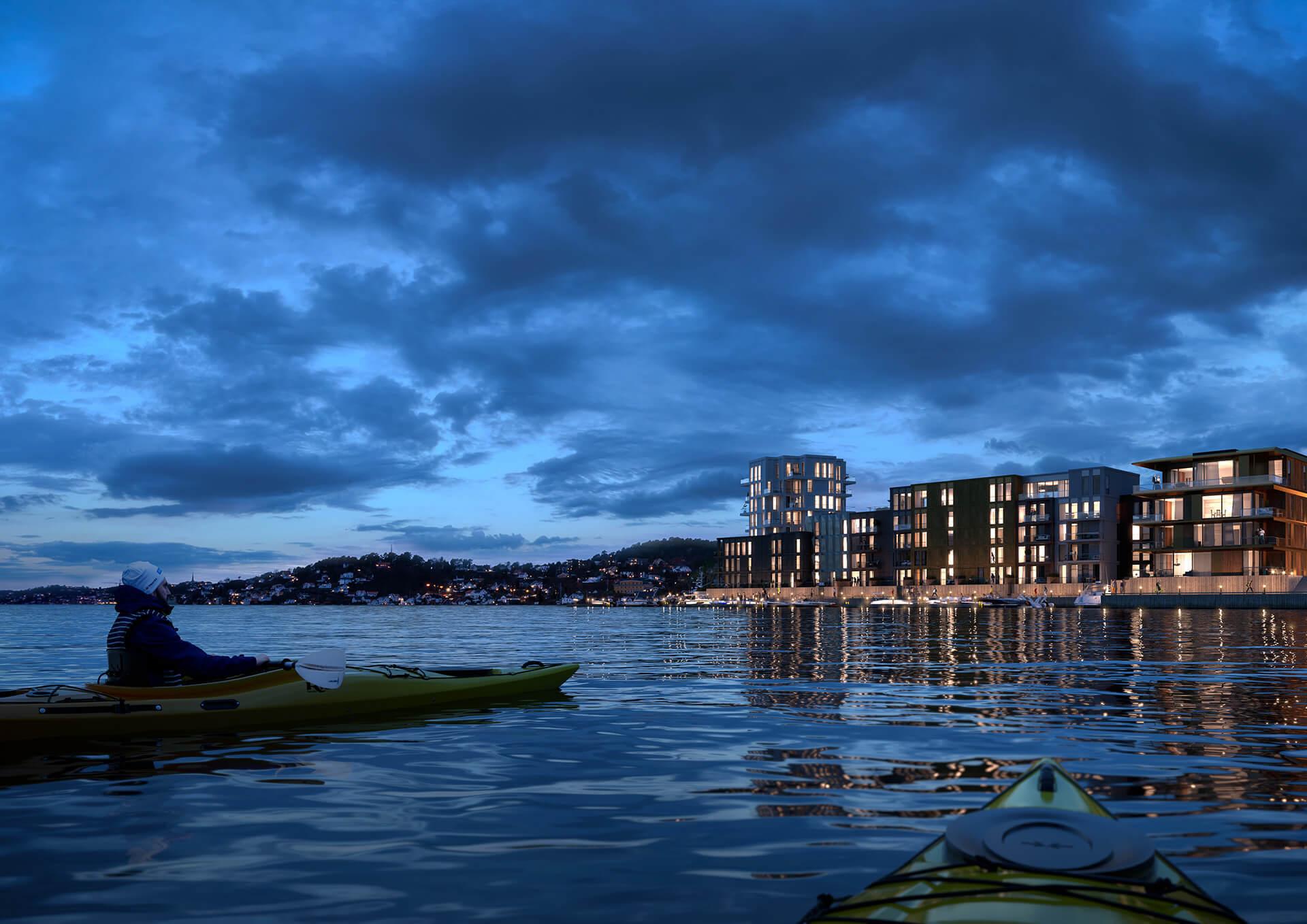Leilighet i Bryggebyen gir deg frihet til å gjøre mer av det du måtte ønske. (Illustrasjonsbilde. Endringer kan forekomme.)